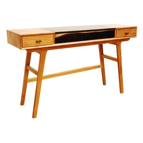 Desk Console Table by Libra Two Tone Retro Console Table From Fusion Living