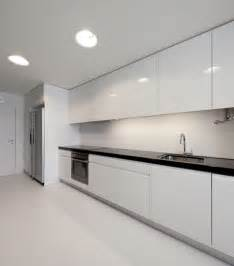 white modern apartment kitchen decoration home design