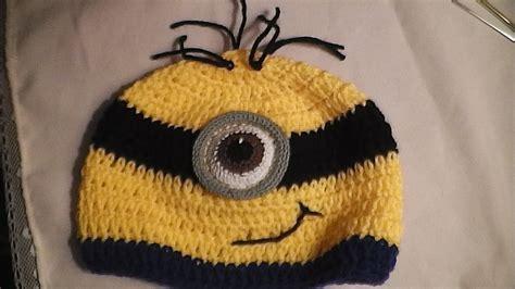 gorros con la tablita gorro minion a crochet youtube