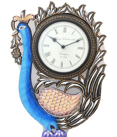 Handcrafted Clocks - jordaar blue handcrafted clock buy jordaar blue