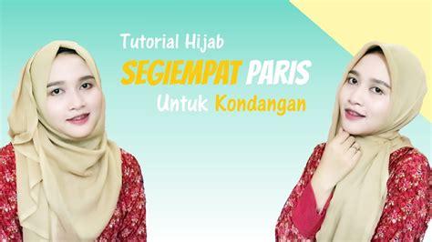 youtube tutorial hijab kondangan tutorial hijab segiempat paris untuk kondangan amalia