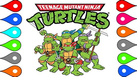 colors of the turtles mutant turtles coloring pages learn colors