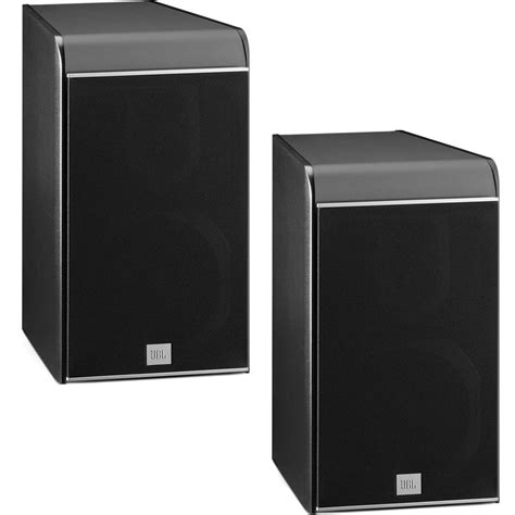 jbl es30b 3 way bookshelf speaker black pair es30bk b h