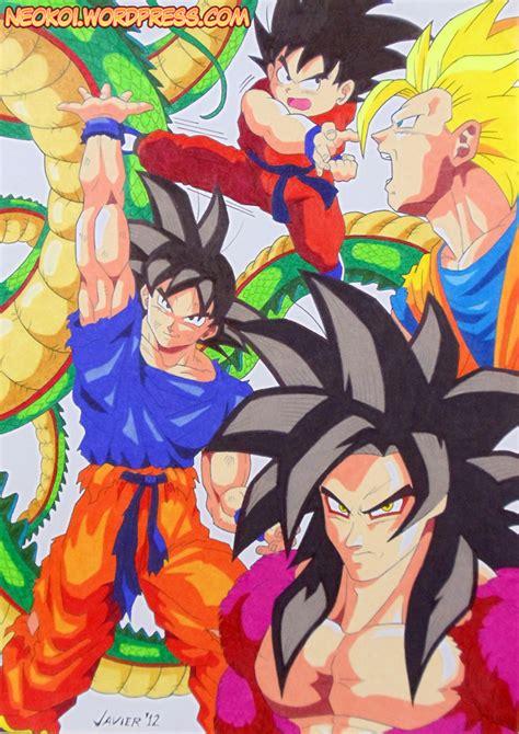 imagenes de goku en todas sus fases super saiyajin 4 neokoi comics