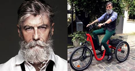60 year old men with beards this 60 year old man becomes a model all thanks to his