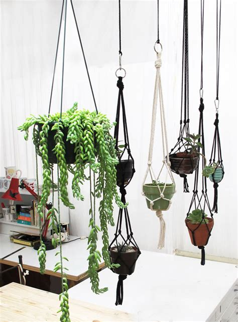 Macrame Hanging Plant Holders - macrame on macrame plant hangers macrame and