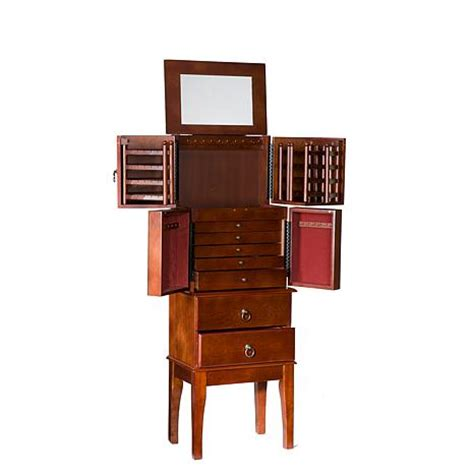 jewelry armoire under 50 jewelry armoire cherry 6221909 hsn
