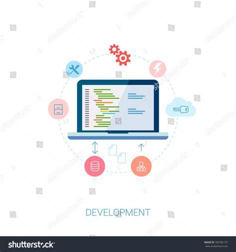 application design vector set of modern flat design icons for application
