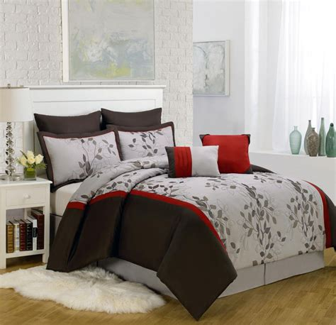 piece king brookfield embroidered comforter set spotlats
