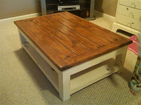 small distressed wood coffee table loccie  homes gardens ideas