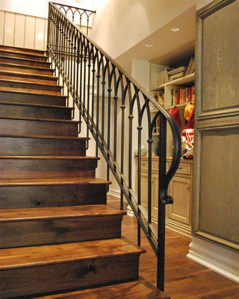 stair banisters and railings ideas stair railing designs wood vs iron