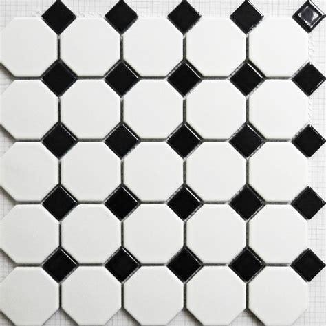 Black And White Ceramic Floor Tile Mosaic Tile Matt Black And White Wall Floor Tiles Puzzle Parquet Bathroom Flooring Ceramic Tile