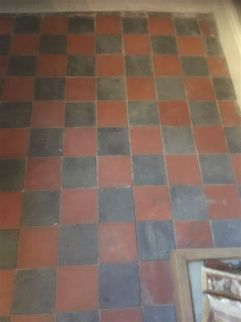 Cleaning a Sandstone Fireplace and Victorian Floor Tiles