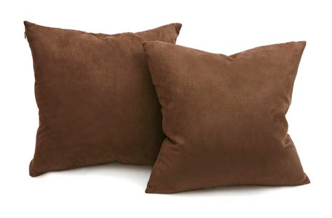 Microsuede Throw Pillows by Chocolate Microsuede Pillows Sets Of Two Throw
