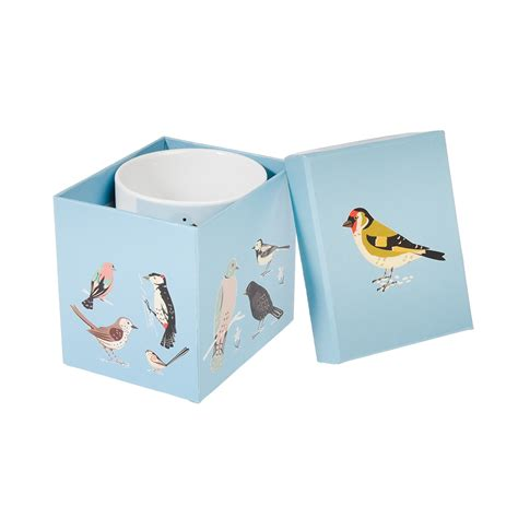 garden birds mug in a gift box rex london at dotcomgiftshop