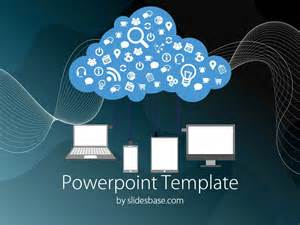 computer template for powerpoint cloud computing powerpoint template slidesbase