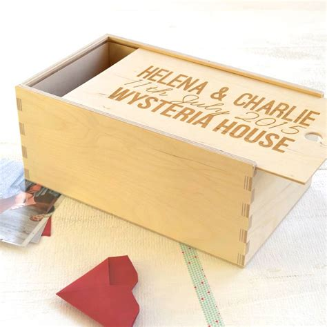Wedding Keepsake Box Not On The High by Personalised Wedding Keepsake Box By Clouds And Currents