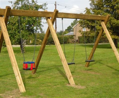 triple swing timber triple swing streetscape products services