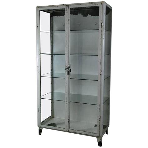 1920 metal glass display cabinet at 1stdibs