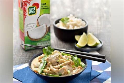 cuisine poulet curry vert wok de poulet au curry vert et coco la recette