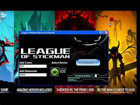 league of stickman full version with cheat league of stickman hack tool android ios youtube