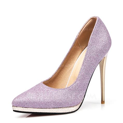 s sparkling glitter stiletto heel pumps with