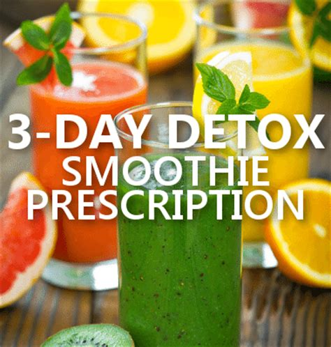 3 Day Smoothie Detox Review by Dr Oz 3 Day Detox Meal Plan