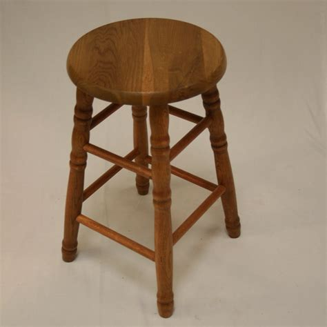 Stool Leg by 22 Quot Solid Oak Counter Stool Turned Legs Ehemco