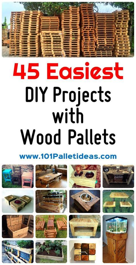 diy projects with wooden pallets 45 easiest diy projects with wood pallets