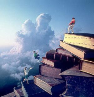 mountain books children climbing a mountain of books 1993 flickr