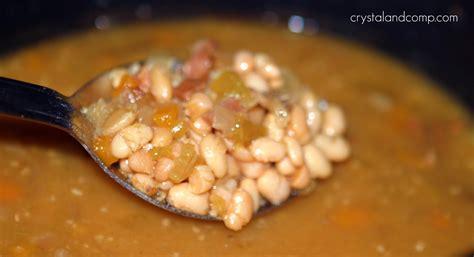 easy recipe crockpot navy beans and ham txbacon crystalandcomp com