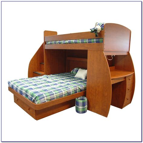 Oak Bunk Beds With Desk Solid Wood Bunk Bed With Desk And Drawers Page Home Design Ideas Galleries Home