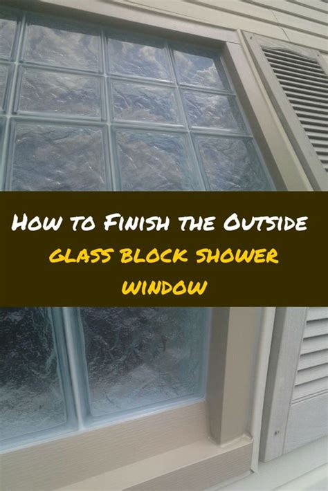 installing glass block windows bathroom how to install a glass block shower window glass block