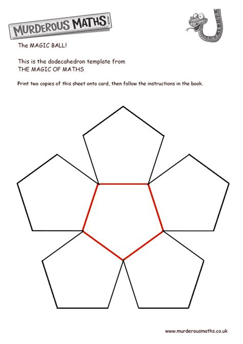 Dodecahedron Template Large Related Keywords - murderous maths the dodecahedron