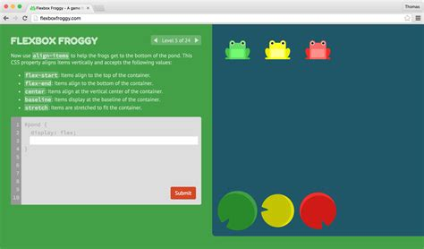 website layout with flexbox learning css layout with flexbox froggy thomas park