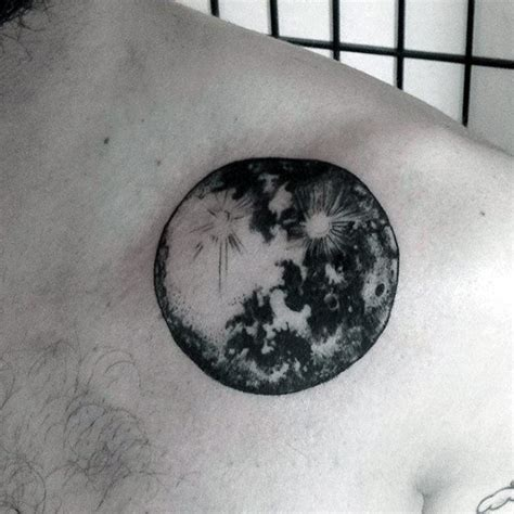 black and white space tattoo 90 astronomy tattoos for masculine design ideas