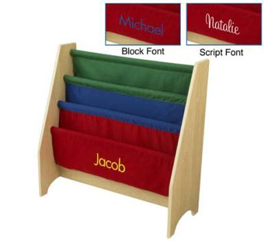 personalized sling bookcase primary