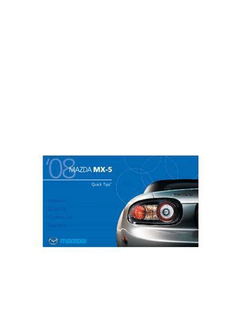 free download parts manuals 2008 mazda mx 5 head up display download 2008 mazda mx 5 quick tips pdf manual 15 pages