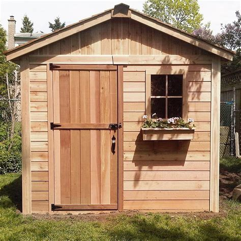 wooden backyard sheds outdoor living today storage shed lifestyle series 8 x