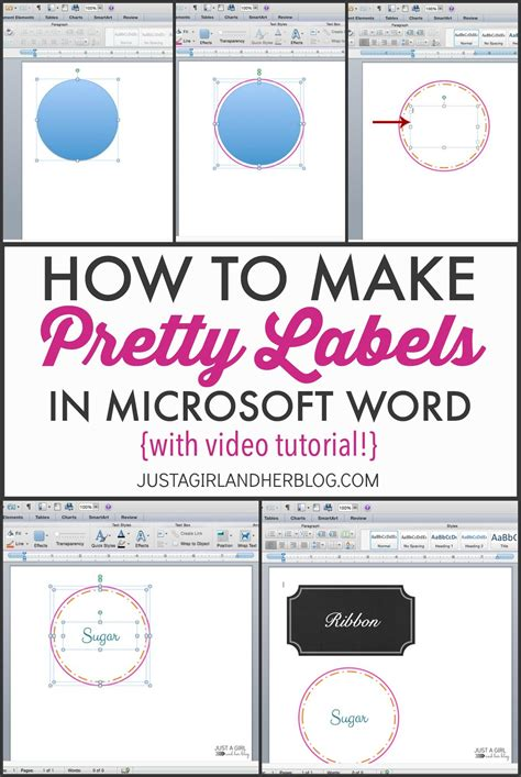 Etiketten Erstellen Word by How To Make Pretty Labels In Microsoft Word