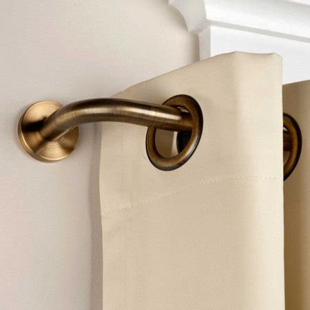 wrap around window curtain rod privacy wraparound curtain rod improvements catalog