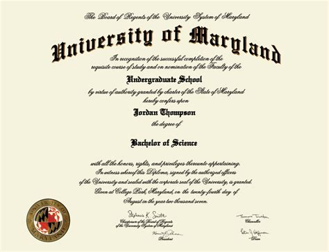 of maryland diploma frame of maryland college park masterpiece medallion
