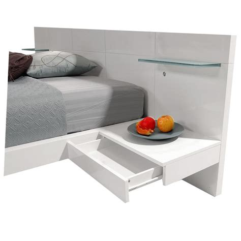 white queen platform bed chico white queen platform bed w nightstands el dorado