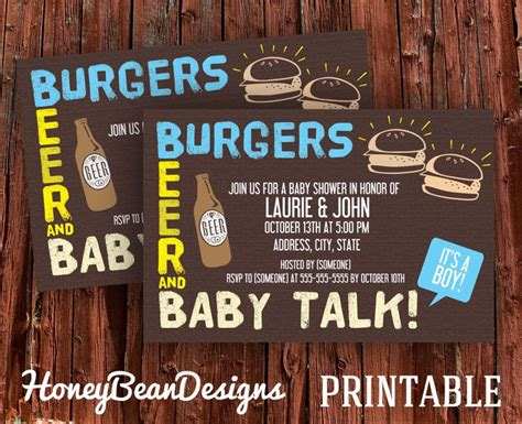 Co Ed Baby Shower by Couples Baby Shower Invitations Co Ed Burgers And