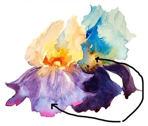 watercolor tutorial iris watercolor blooms effect making the best of the bloom