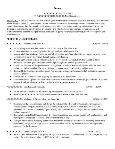 Commercial Real Estate Sle Resume by Executive Resume Sles Resume Prime
