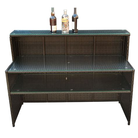 wicker rattan bar restaurant buffet serving table dish