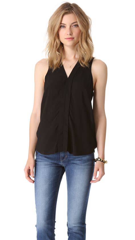Top Neck Black lyst splendid sleeveless v neck top in black