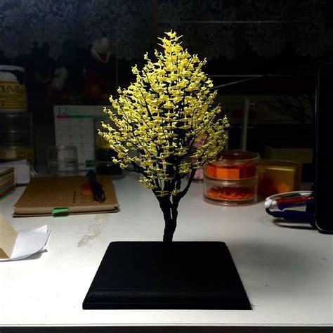 pohon bonsai  luar biasa terbuat   bangau miniatur origami oleh naoki onogawa part