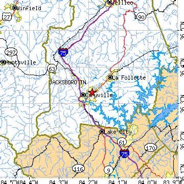 jacksboro tennessee tn population data races